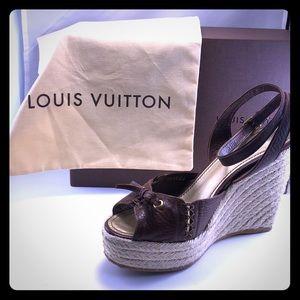 f5a2493560f46 Women Louis Vuitton Wedge Sandals on Poshmark